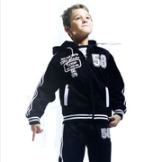 Tiger Baby Boys Zipper Sportswear Boy's Long-sleeved Two-piece Sports