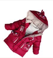 Tiger Baby Лацкан пальто с капюшоном хлопок детей мультфильм одежда до