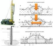 Установка скважинной гидродобычи песка для строительства насыпей