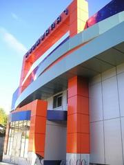Вентилируемый навесной фасад (алюкобонд)