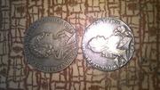 Продаю  старые  монеты.  Недорого. Торг уместен. цена  за  обе монеты.