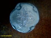 серебряный 4 Реала  монета.