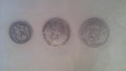коллекционные монеты 1887. 1741. 1730 годов